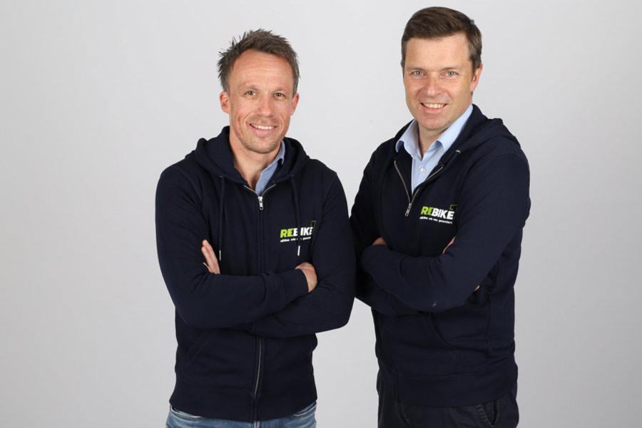 Sven Erger und THomas Bernik, Geschäftsführer von rebike1 GmbH